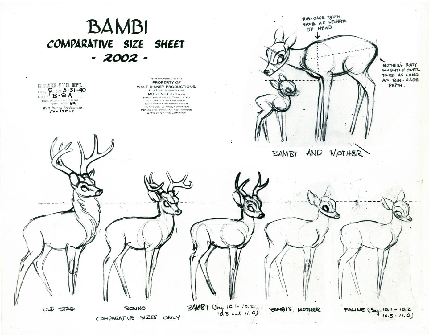 Character Design References Website : Bambi � walt disney animation studios website