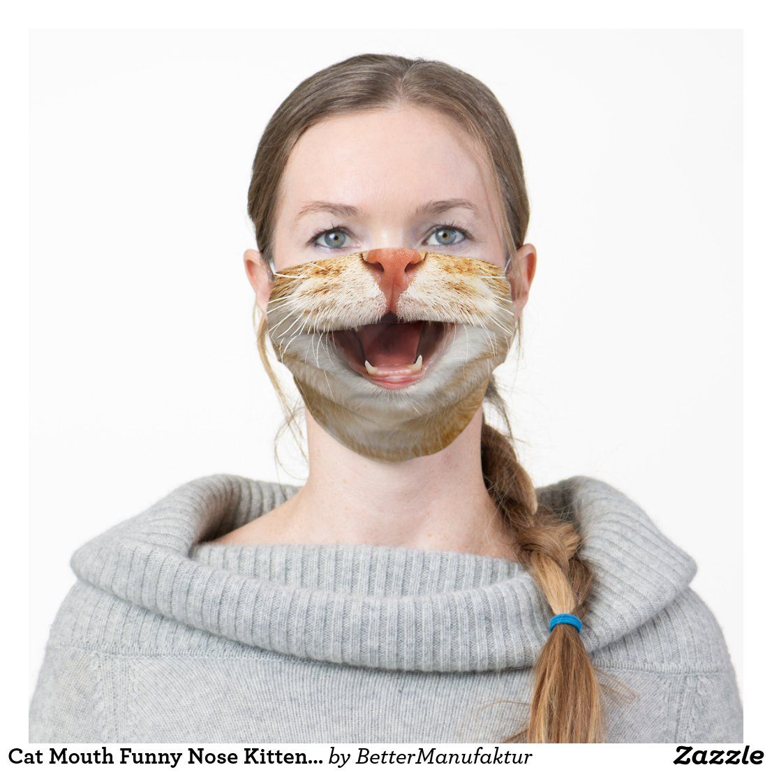 Cat Mouth Funny Nose Kitten Cats Lovers Face Cloth Face