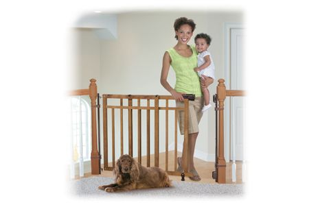 Banister & Stair, Top of Stairs Gate with Dual ...