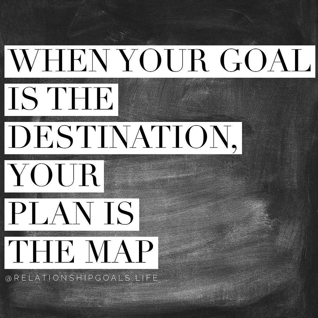 Set a goal but make a plan! Without the plan it's easy to get lost! Check out the new blog post at Relationshipgoals.org #march #marchmadness #goals #relationshipgoals #success #dream #motivate #blog #quote