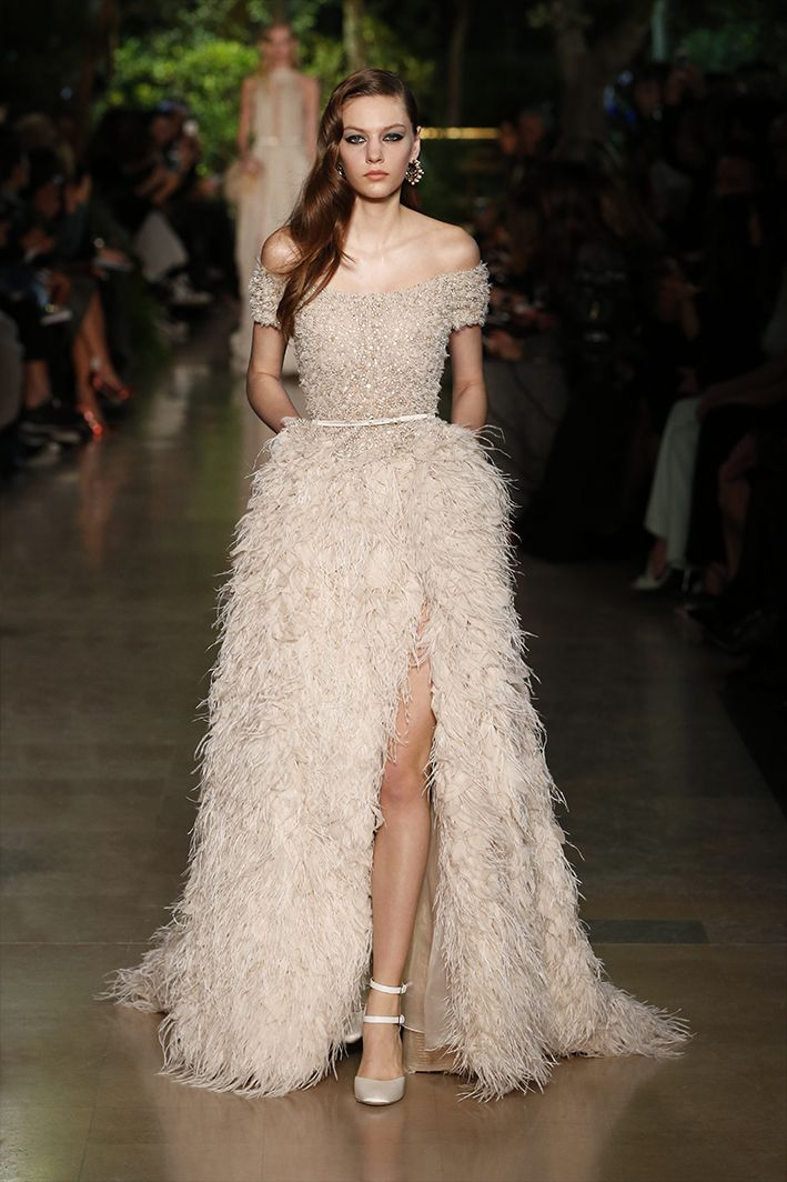 The best bridal looks from couture fashion week spring for Elie saab blush wedding dress