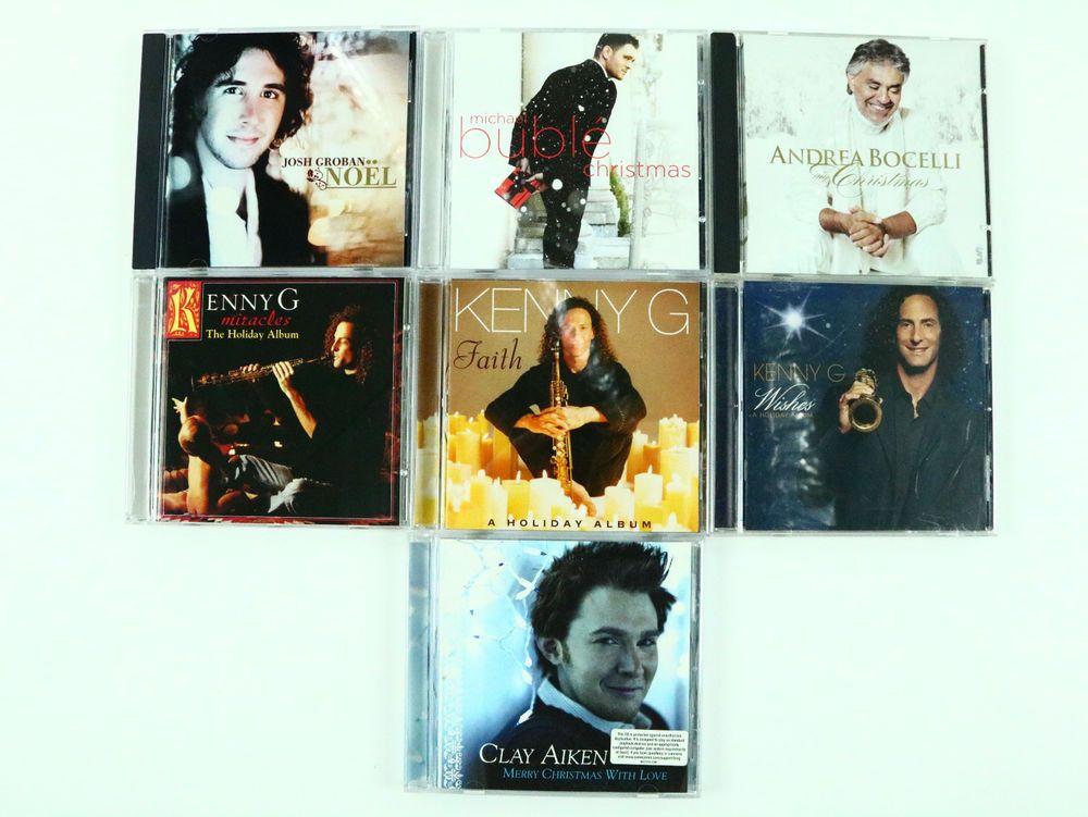 Christmas CD Lot 7 Xmas - Josh Groban Andrea Bocelli Buble Kenny G ...