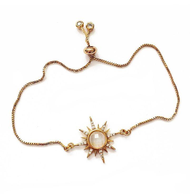 Photo of Gemstone Starburst Bracelet – Labradorite