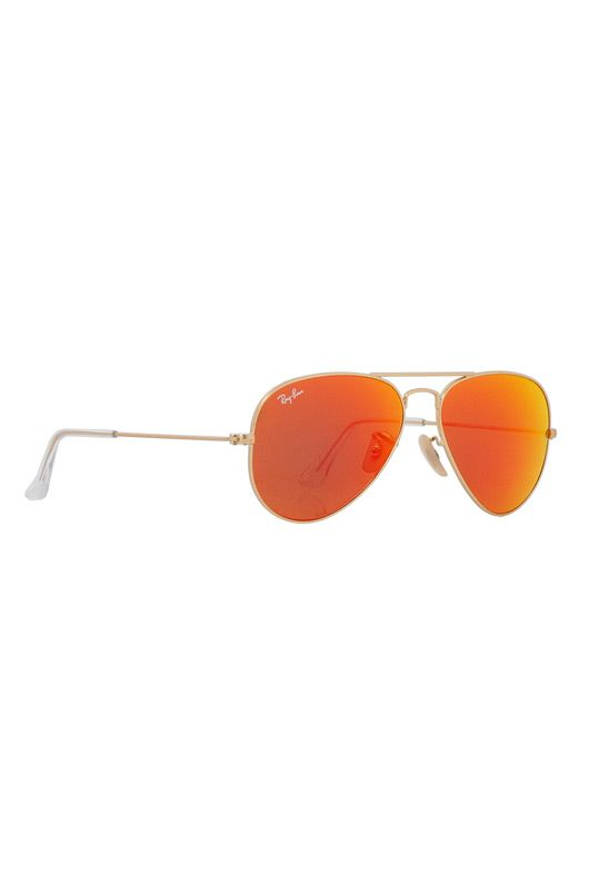 de809b85bc Ray-Ban Aviator Metal 55 mm Sunglasses in Orange Mirror Gold-112-69 ...