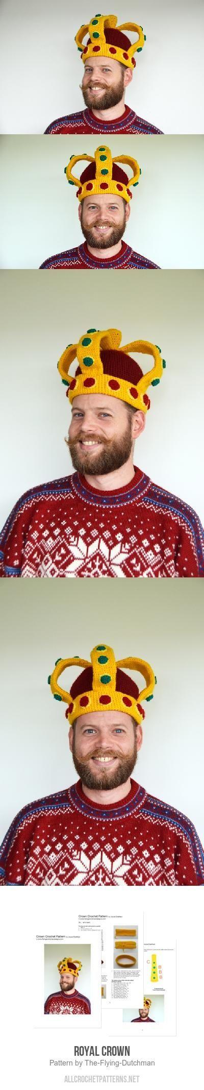 Royal Crown crochet pattern #crownscrocheted Royal Crown crochet pattern #crownscrocheted