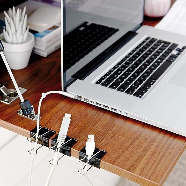 computer desk organization