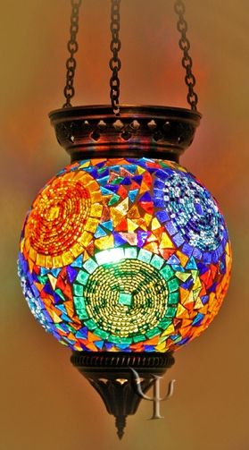 Mosaic Stained Glass Hanging Lamp Mosaic Projects In