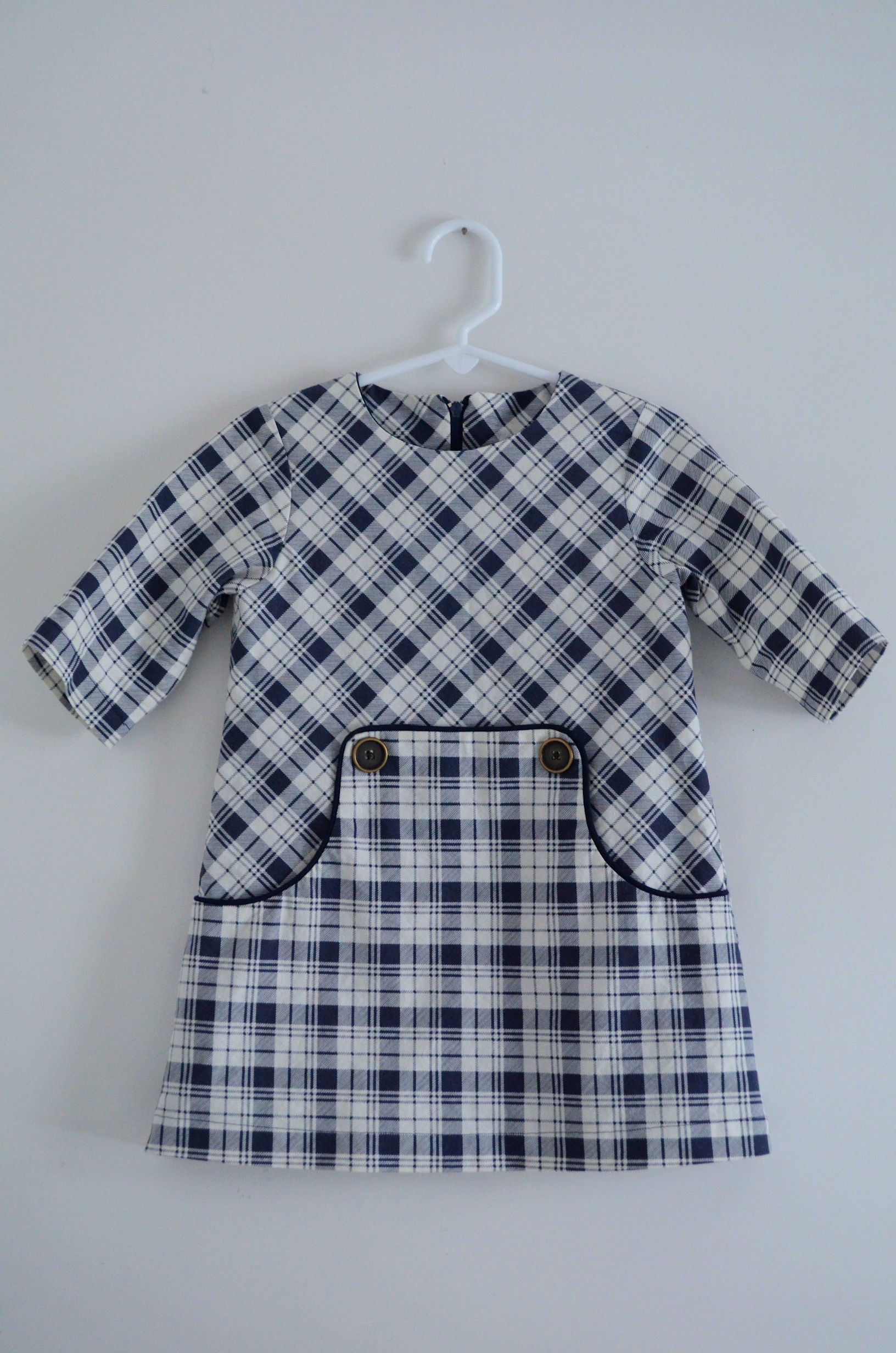 Companie M dress, love the plaid going in different directions.