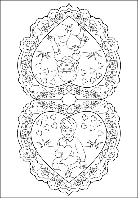 Nicoles Free Coloring Pages Vintage Valentines Inspiration