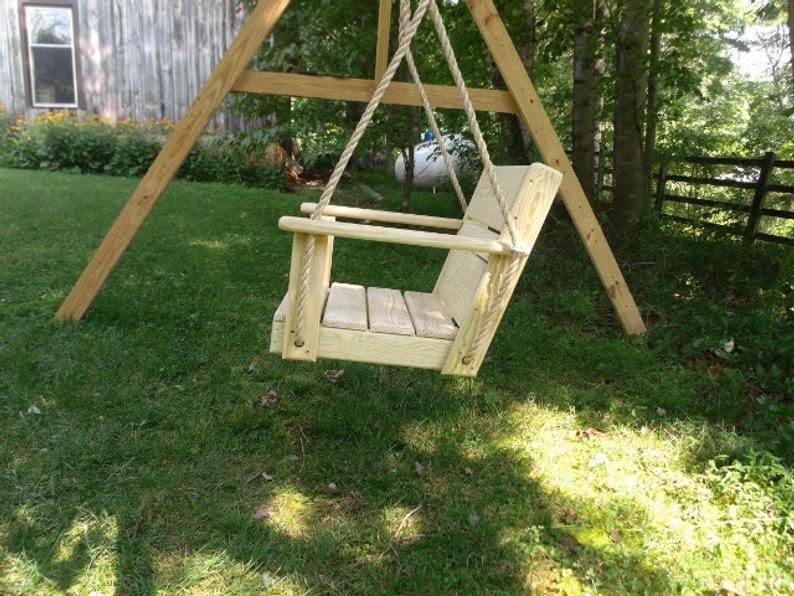 Free Engraving Chair Tree Swing 16 Wide Seat Tree Swing Rope Swing Patio Swing Back Yard Swing Wood Swing Porch Swing Chair Swing In 2020 Wood Swing Diy Wooden Projects Patio Swing