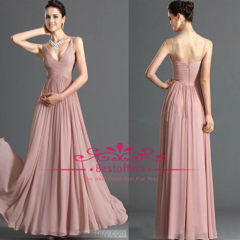 Wholesale Prom Dresses - Buy Dusty Pink Bridesmaid Dresses with ...