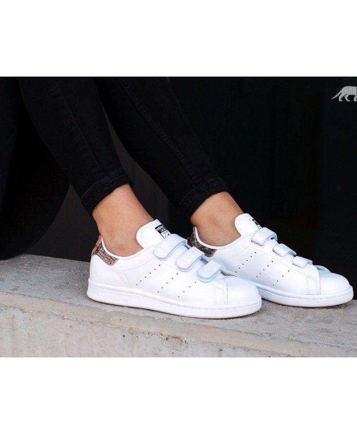 Adidas Stan Smith velcro White Womens Sale  e4d0d201c
