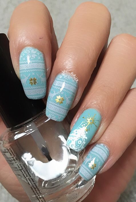 Bunny nails plate HD--I