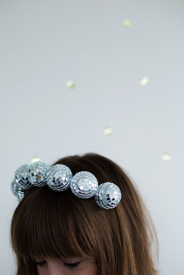 Claim instant life-of-the-party status with this DIY disco-ball headband.   DIY 31d39ed6fd79