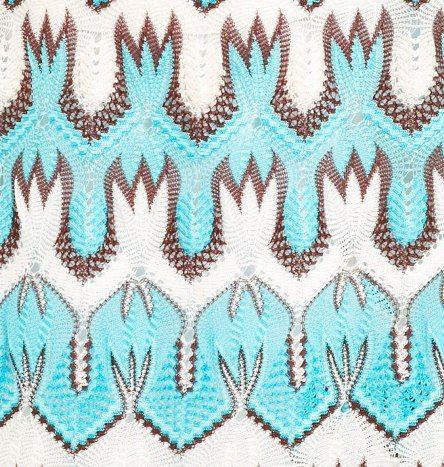 Вязание узора миссони