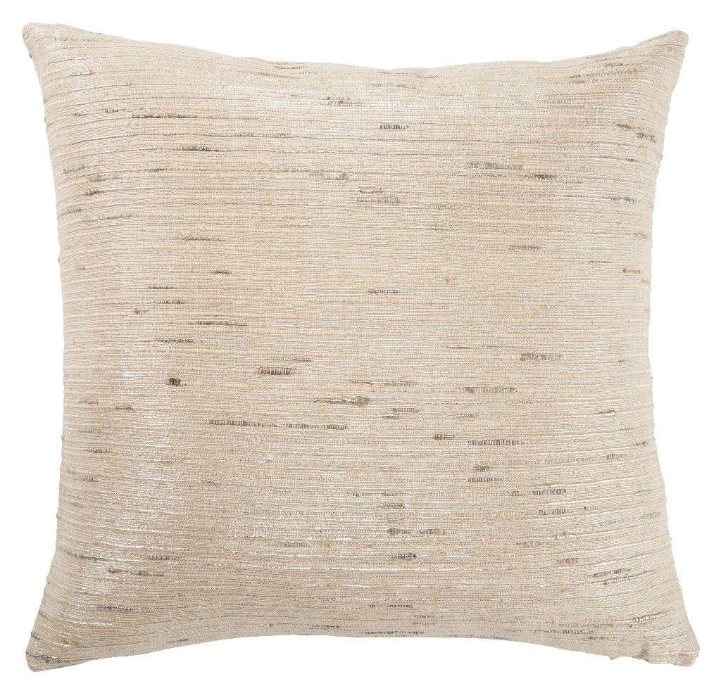 Jaipur Living Metallic Silver/ Cream Textured Poly Throw Pillow 22 inch - PLW103132