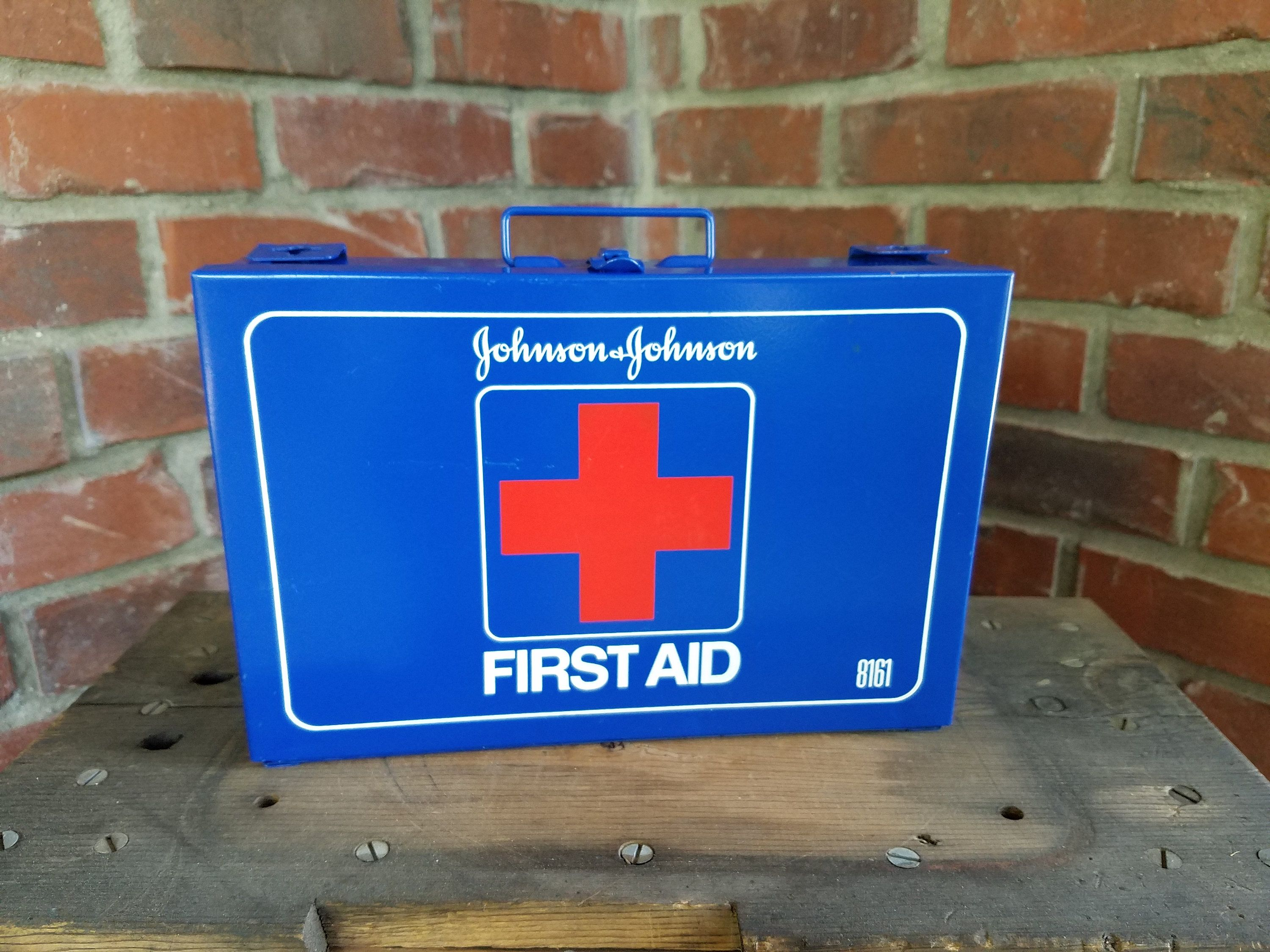Johnson & Johnson First Aid Kit. Emergency kit, first aid box, metal ...