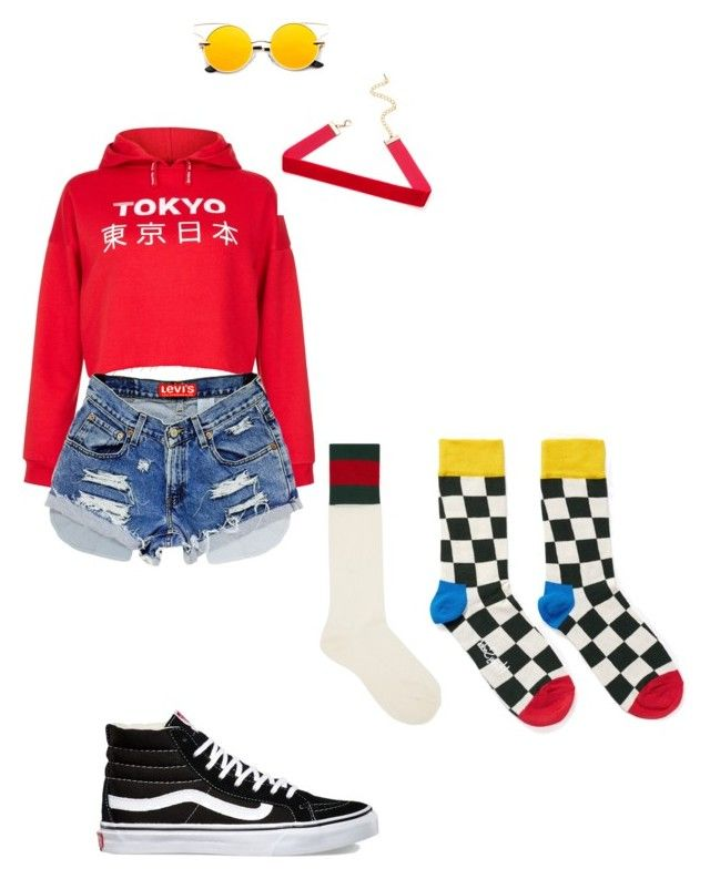"""""""block b yesterday"""" by stylistrim on Polyvore featuring New Look, Gucci, Happy Socks, Vans, New, block and yesterday"""