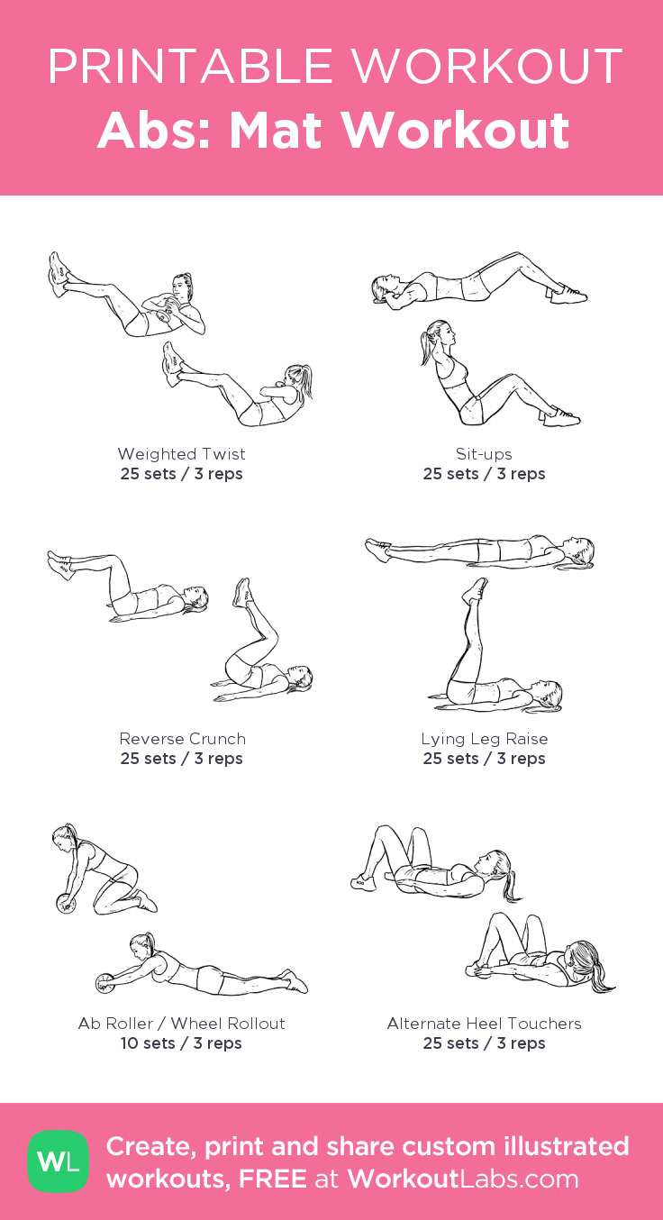 It is a picture of Printable Workouts for cardio