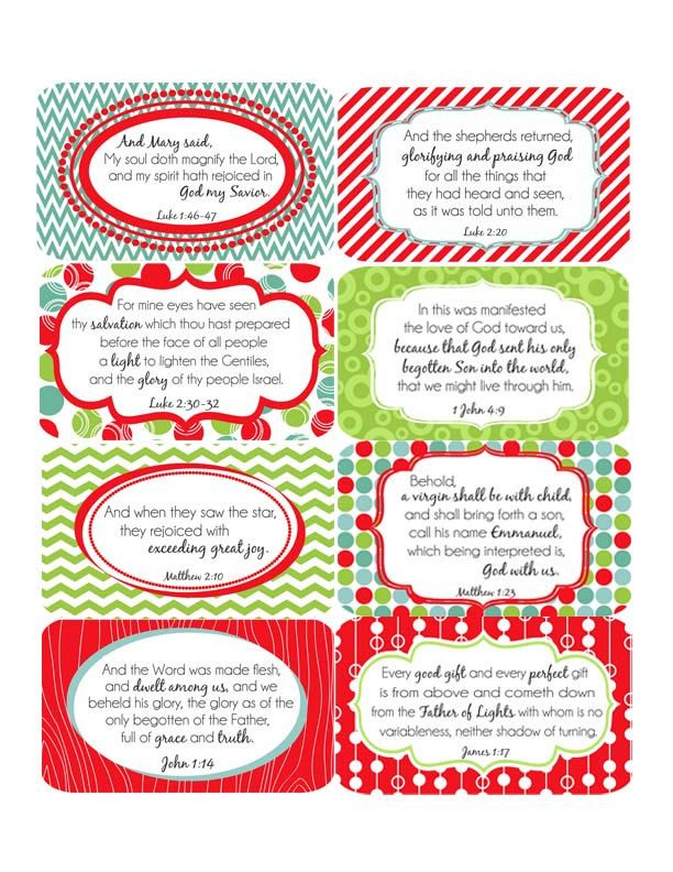 small christmas scripture cards or gift by proverbsandpacifiers - Christmas Scripture For Cards