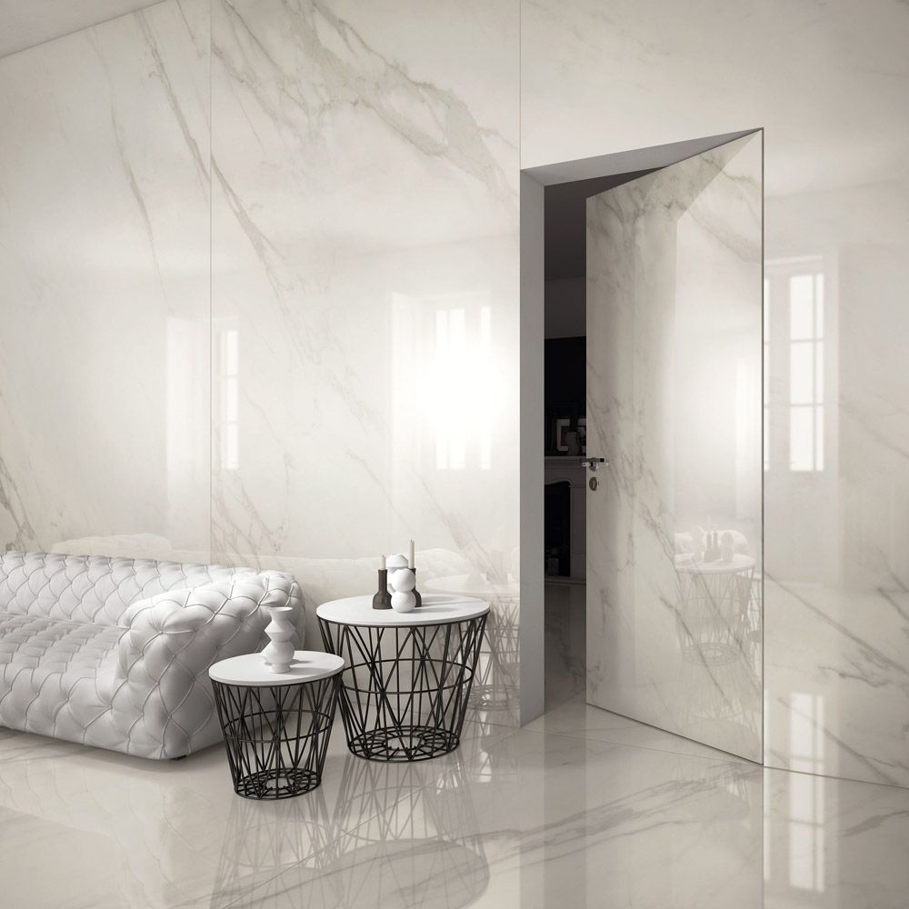 Calacatta marble wall tiles, large format for kitchens bathroom ...