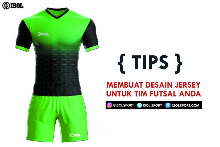 Desain Baju Futsal Polos Depan Belakang