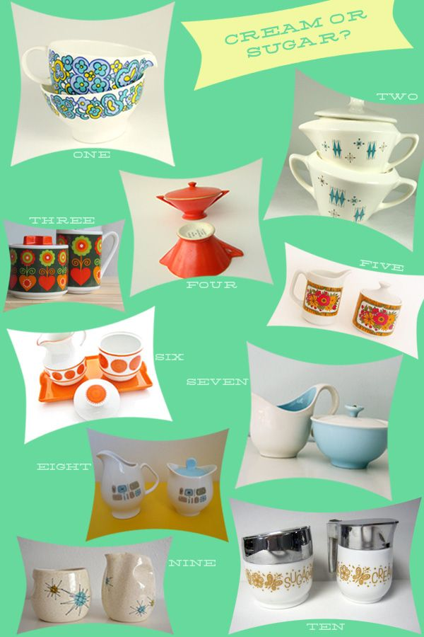 vintage cream & sugar sets