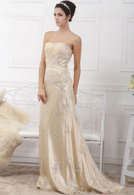 Robe de mariee couleur champagne