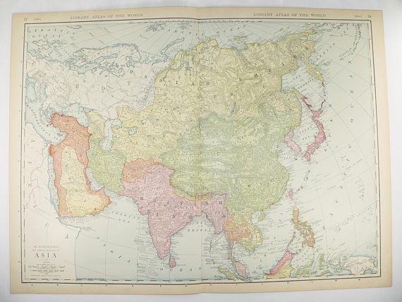 Map Of Asia Far East.Large Asia Map 1912 Rand Mcnally Map Of Asia Middle East Map Far
