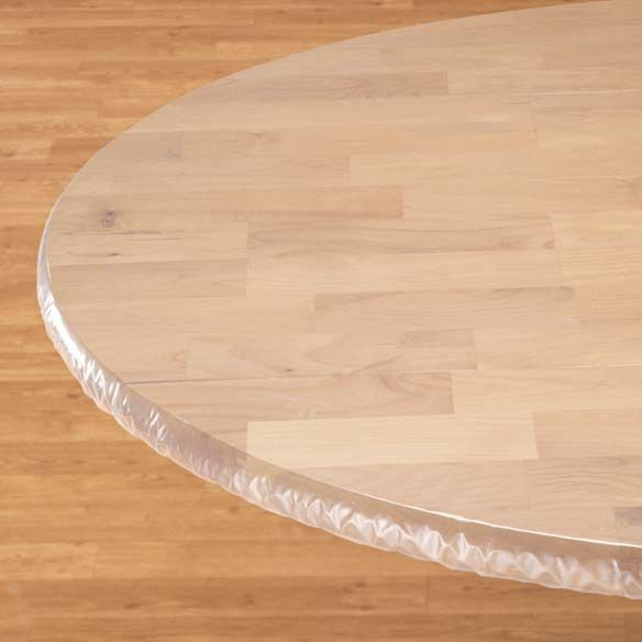 Clear Elasticized Table Cover Zoom Table Covers Table Table Cloth