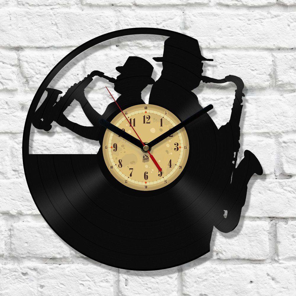 Vinyl Clock Jazz Time Slips Away Vinyle