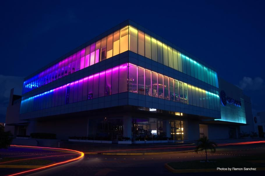 Facade glass lighting google 검색 现代建筑&modern architectural