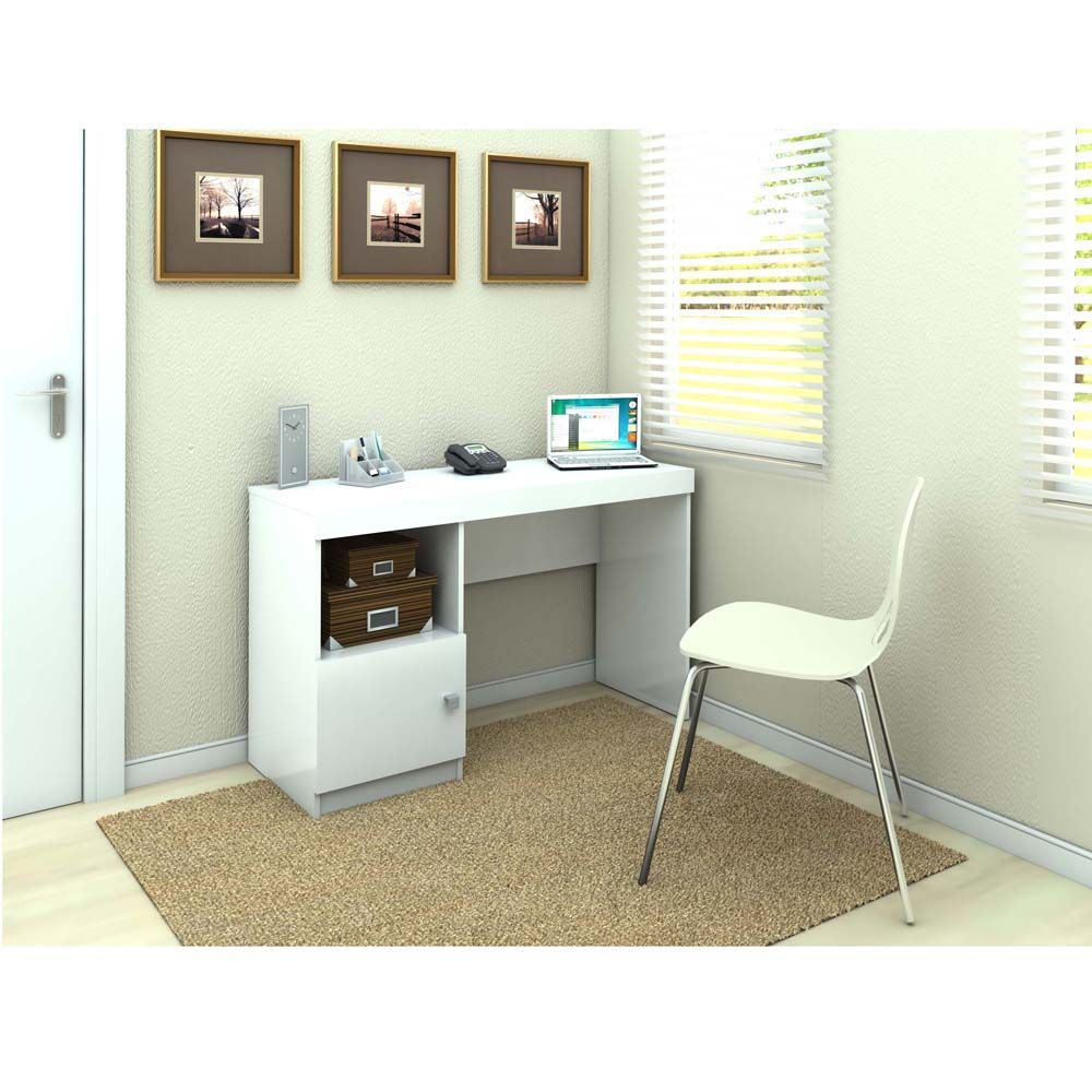Mesa Para Computador Ou Escritorio Politorno Mendonca Com 1 Porta