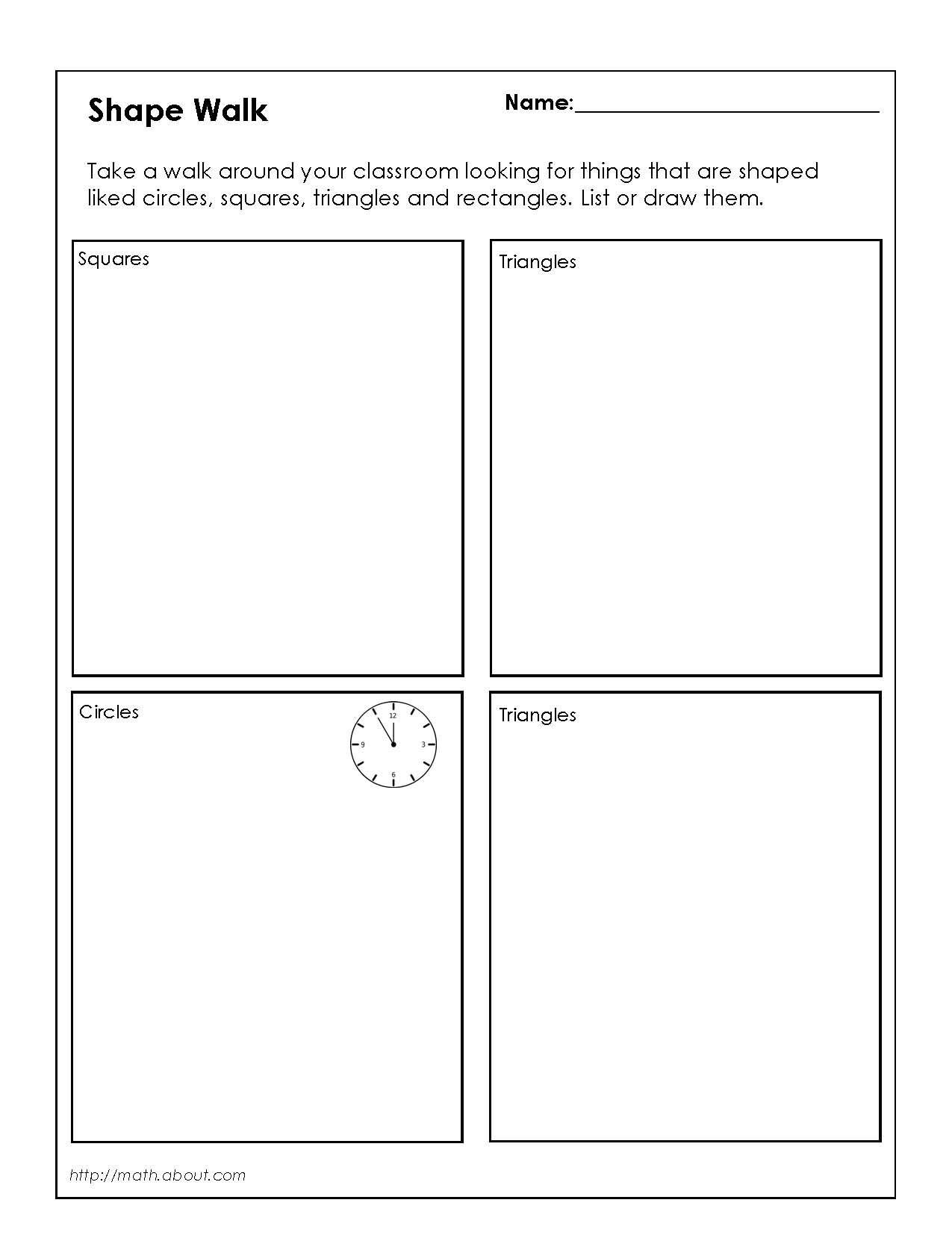 1st Grade Geometry Worksheets For Students In