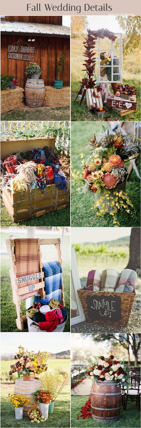Wedding decorations pics october 2018  of the Best Fall Wedding Ideas for   Weddings  Pinterest
