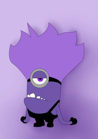How To Draw Purple Minion From Despicable Me
