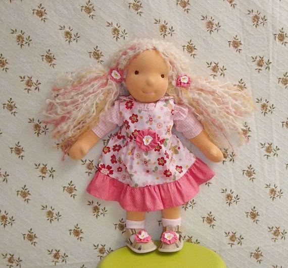 Waldorf cloth doll Nina 18 in  47 cm by LaFiabaRussa on Etsy, €180.00  <3