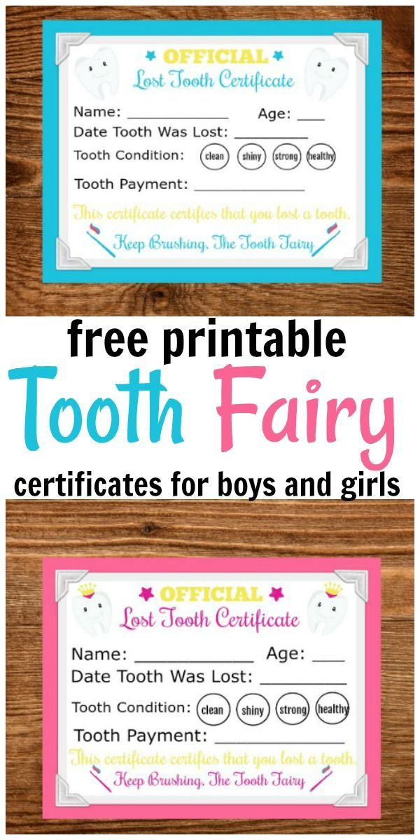 Printable Tooth Fairy Letter #toothfairyideas