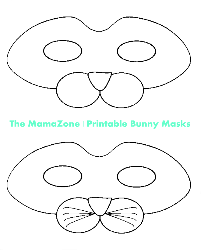 photo relating to Printable Bunny Mask identify Do-it-yourself Printable Rabbit Mask Template for Children Easter Strategies