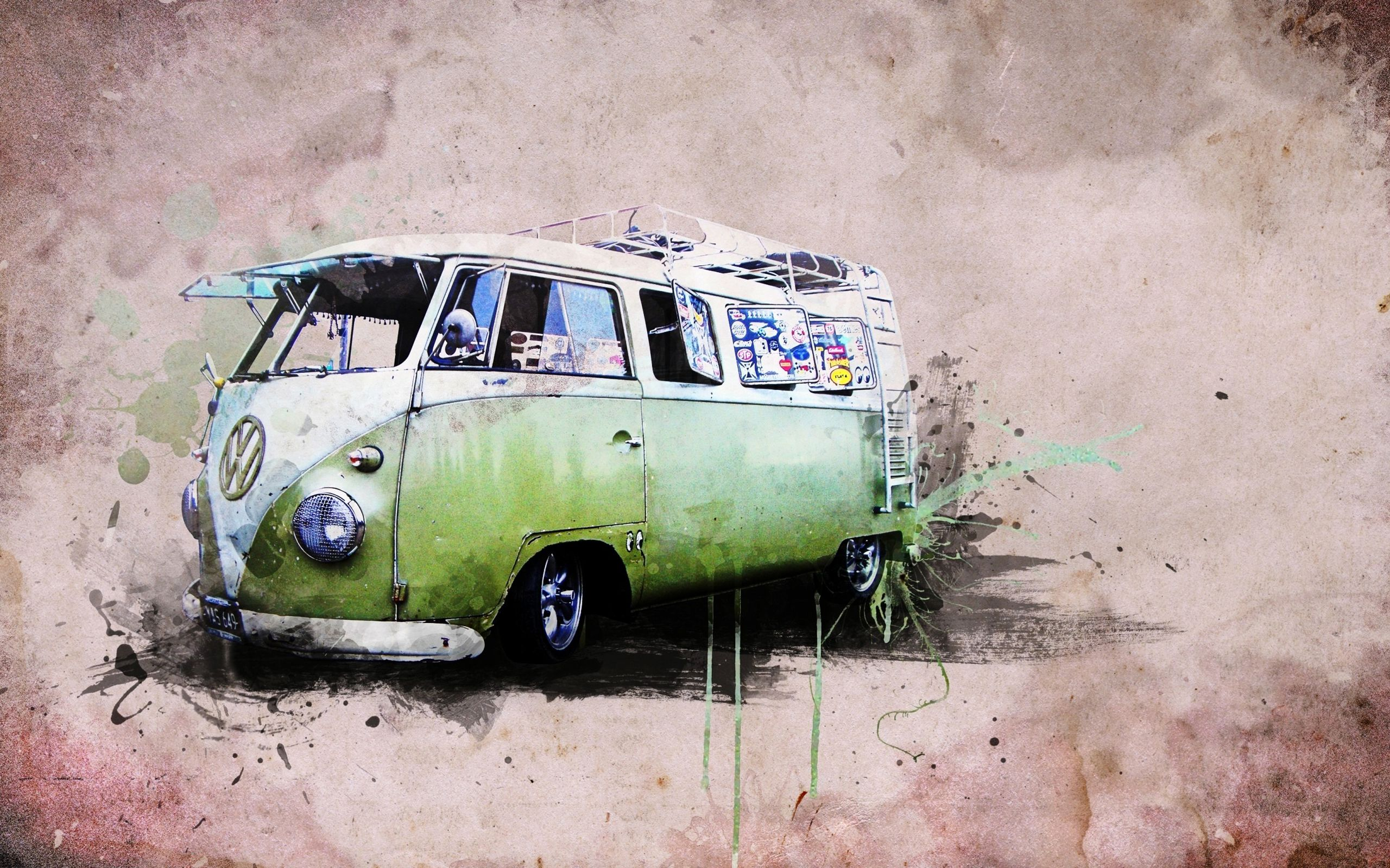 Image For Art Painting Classic Volkswagen Combi HD