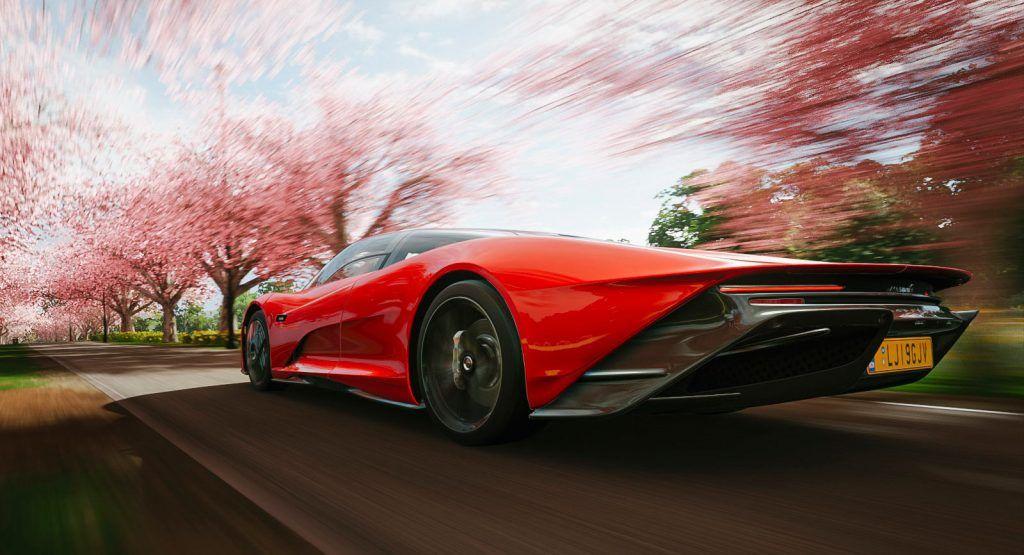 Mclaren Speedtail Looks Amazing In Forza Horizon 4 Carscoops In 2020 Forza Horizon 4 Forza Horizon Forza
