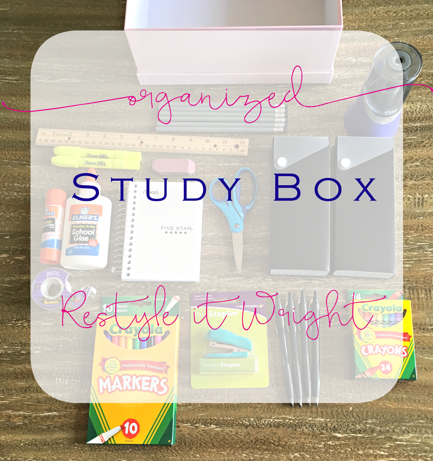 Organizing Homework Study Box For Back To School (With