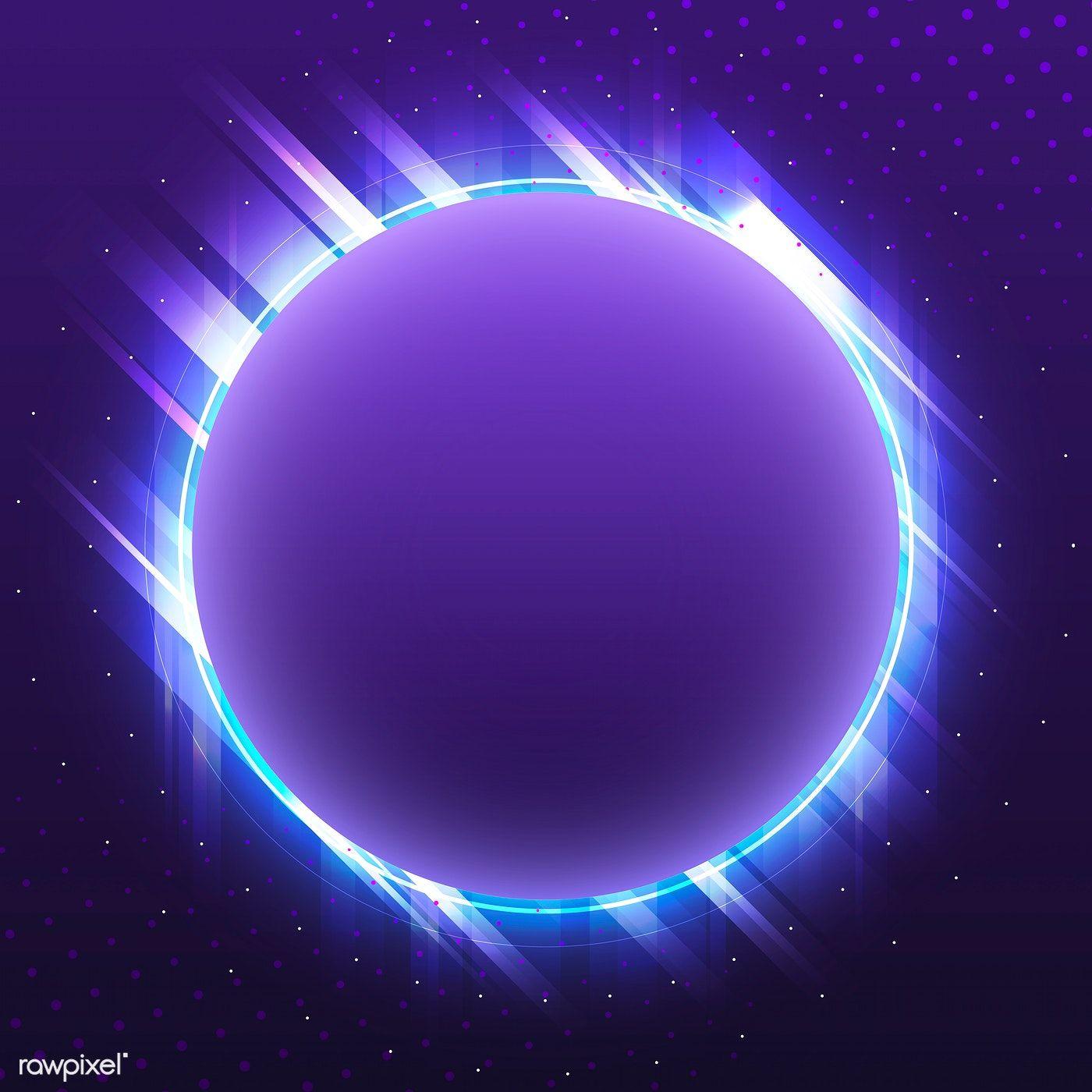 Download Premium Vector Of Blank Violet Circle Neon Signboard Vector 535233 Poster Background Design Neon Wallpaper Planets Wallpaper