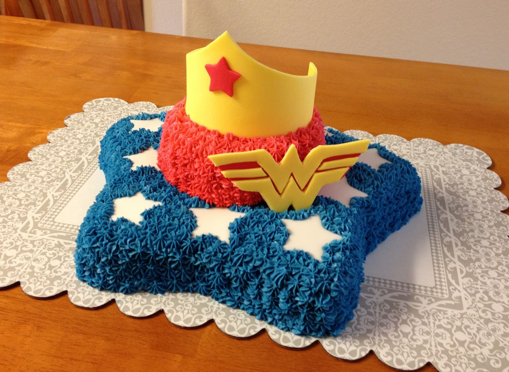 Wonder woman birthday cake pictures of my food cakes