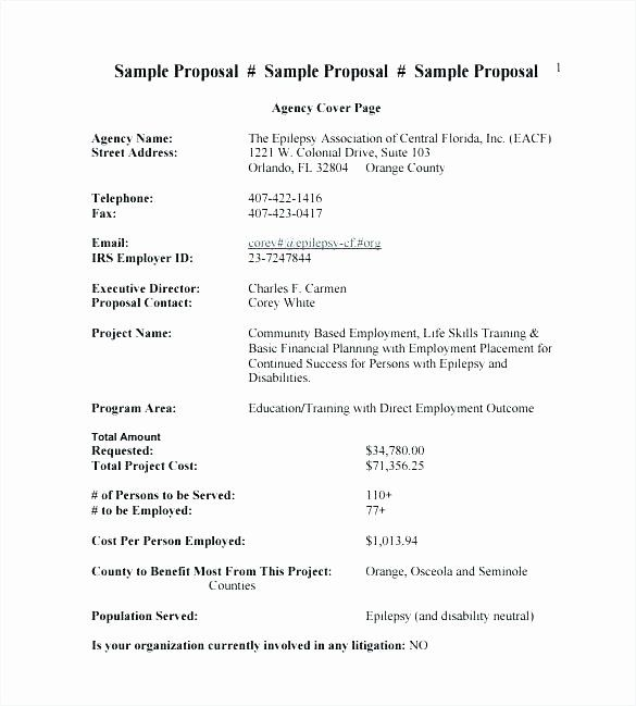 Free Sales Proposal Template Unique Template For Proposal