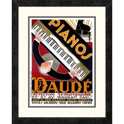Global Gallery 'Pianos Daudé' by André Daudé Framed Vintage Advertisement Size: