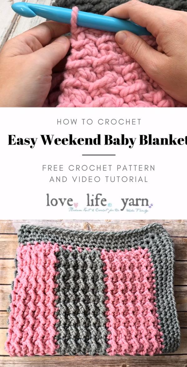 Photo of How to Crochet: Easy Weekend Baby Blanket