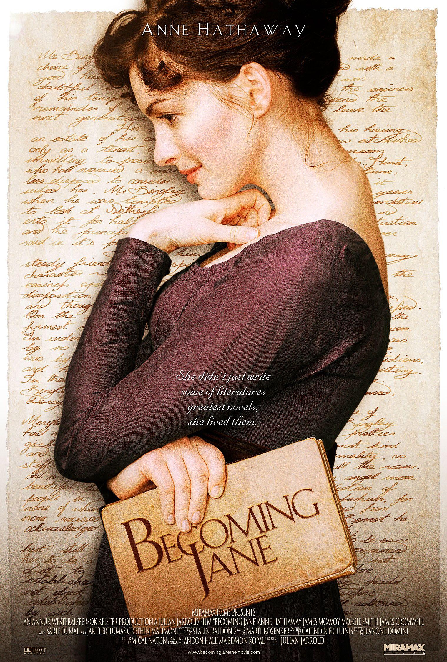 Anne Hathaway Becoming Jane Jane Austen Movies Becoming Jane Jane Austen