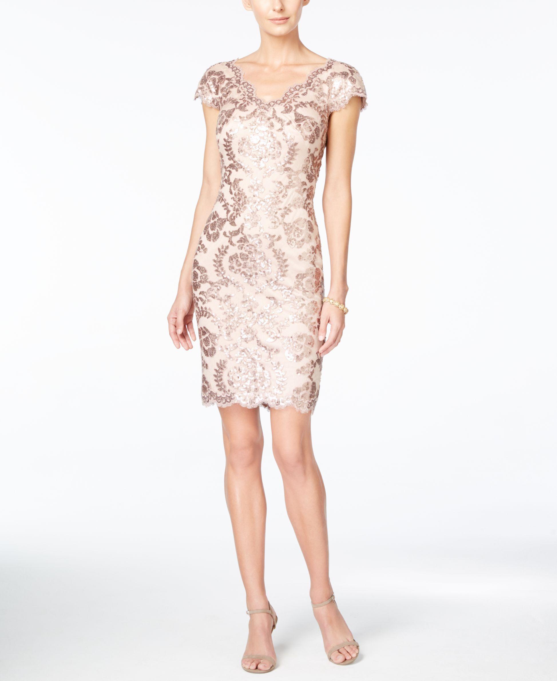Tadashi Shoji Sequined Sheath Dress | Tadashi shoji