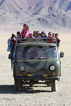 Ublic Transport In Mongolia Desert Mongolia Transportation People Of The World